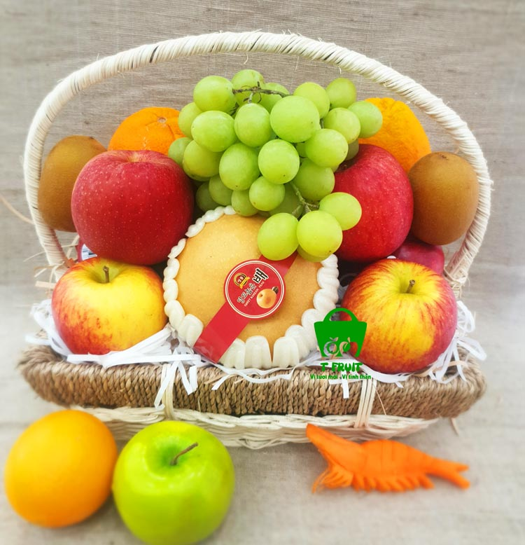 Một mẫu giỏ trái cây đẹp tại T Fruit