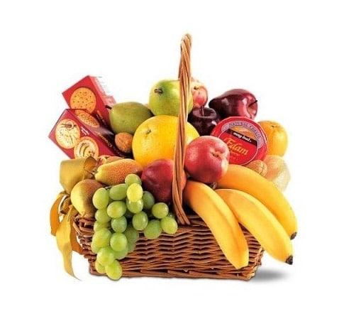 giỏ trái cây sinh nhật đẹp mê mẫn
