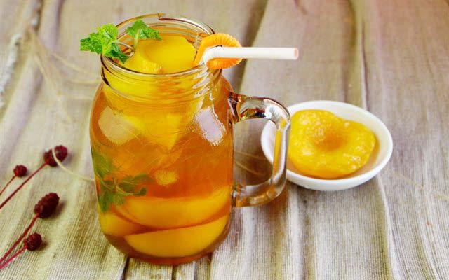 trà đào là loại nước uống làm từ quả đào