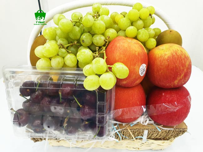 Giỏ trái cây cherry