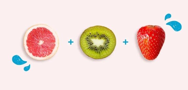 ăn trái cây buổi sáng bưởi kiwi dâu