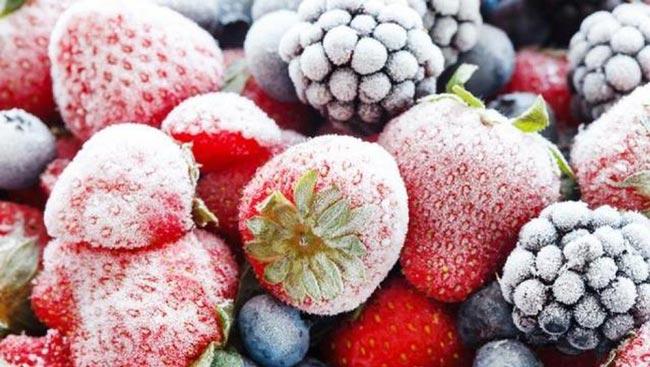 trái cây đong lạnh
